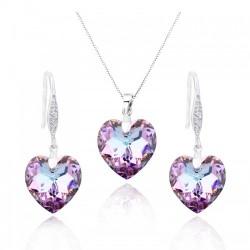 Серебряные комплекты с кристаллами