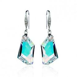 Женские серебряные серьги с кристаллами оптом