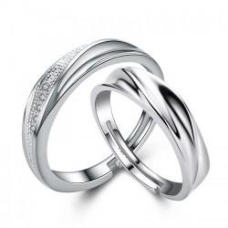 Серебряные парные кольца