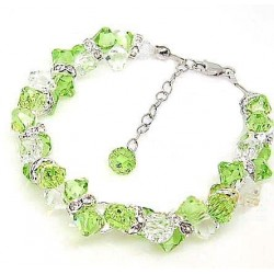 Женские серебряные браслеты с кристаллами оптом
